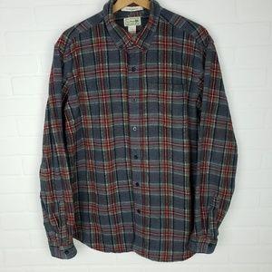 LL Bean Plaid Flannel Button Down L